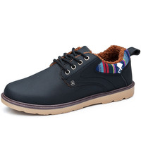 New Warm Winter England Retro Frosted Classic Sport Shoes Blue Yellow Black Men Cotton Shoes Special