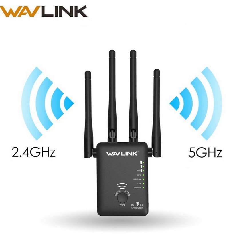 Wavlink Wi-Fi ретранслятор 1200 Мбит/с беспроводной Wi-Fi маршрутизатор/удлинитель сети AP long Range WPS двухдиапазонный 2,4 г и 5 г Wi-Fi усилитель сигнала