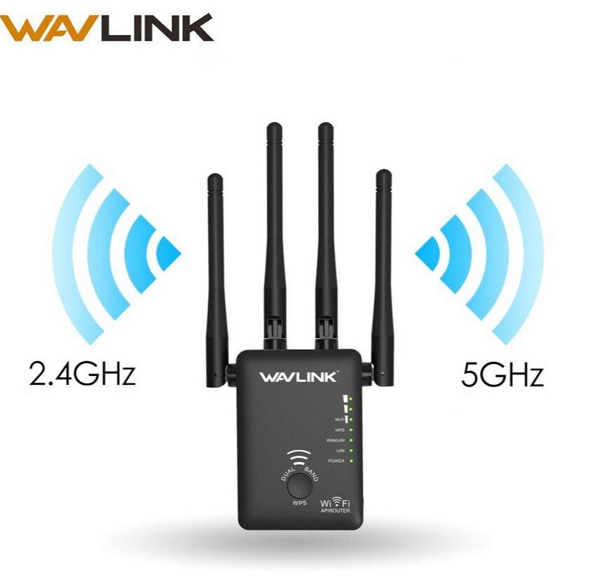 Wavlink wifi répéteur 1200 mbps sans fil wifi routeur/Extender AP Réseau longue Portée WPS Dual Band 2.4g et 5g wifi amplificateur de signal