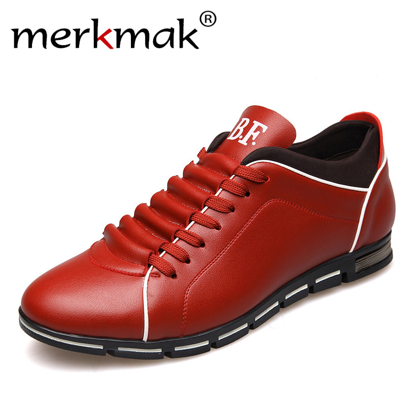 Merkmak Big Size Oxford Men Shoes 2016 Fashion Casual British Style Leather Autumn Shoes Outdoor Lace Up Footwear Zapatos Hombre