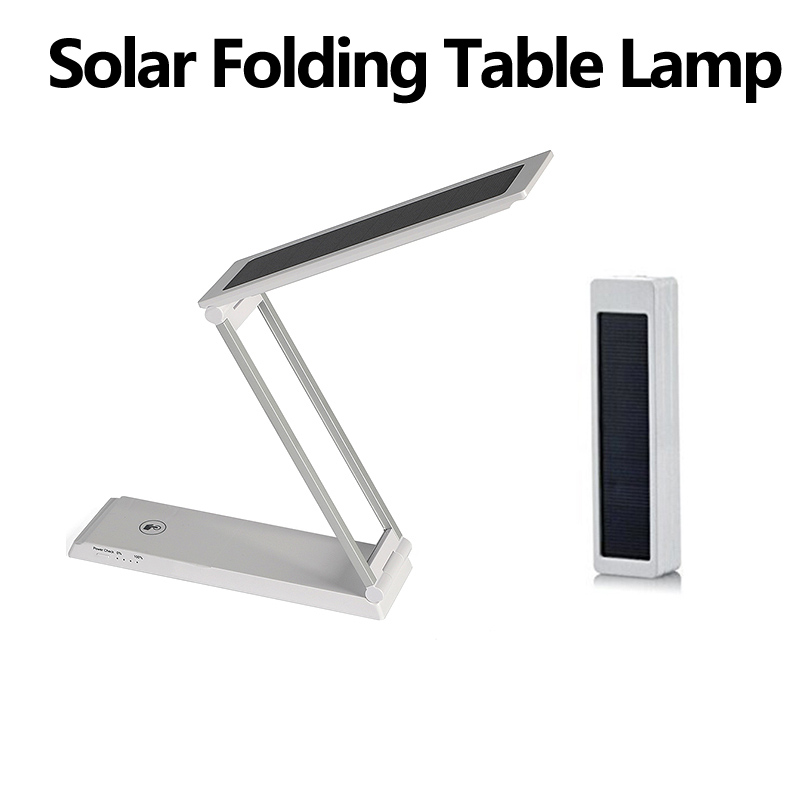 Solar Folding Table Lamps Outdoor Camping Power Bank USB Charging Touch Switch Desk Book Light Student Dormitory Emergency