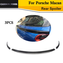 Car Styling Carbon Fiber Rear Trunk Spoiler Middle Wing Lip for Porsche Macan 2014UP