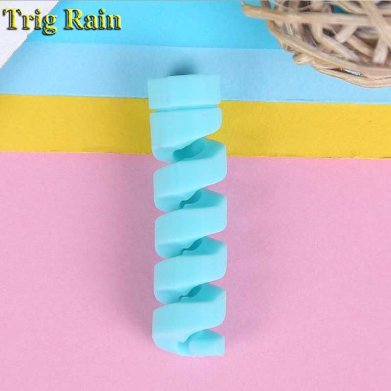 HTB1iN2pDb1YBuNjSszhq6AUsFXam Spiral Cable protector Data Line Silicone Bobbin winder Protective For iphone Samsung Android USB Charging earphone Case Cover