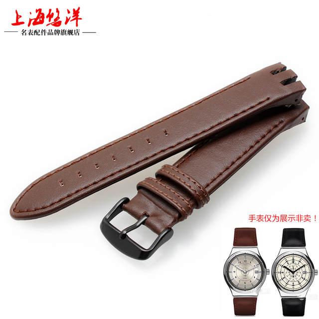 7b02cebf54b placeholder 1 1 Original Black Brown Genuine Leather Watchband for Swatch  Men Women Watch Band Wrist