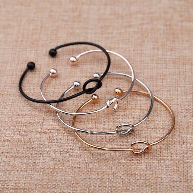 KISS WIFE 4-color original design pure copper casting love knot open metal bracelet bracelet love bracelet 1