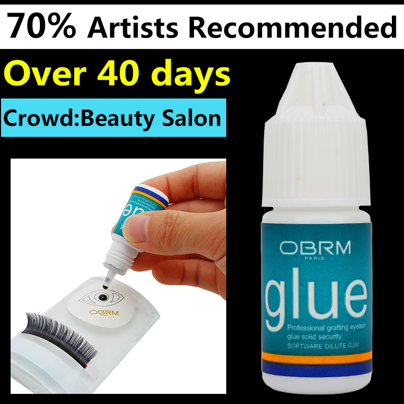5ml eyelash extension glue, OBRM Fast Drying Adhesive glue for lashes salon Last Over 6 Weeks, Professional crafter lash glue