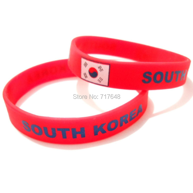 US $100 0 |100pcs SOUTH KOREA wristband silicone bracelets free shipping by  FEDEX-in Cuff Bracelets from Jewelry & Accessories on Aliexpress com |