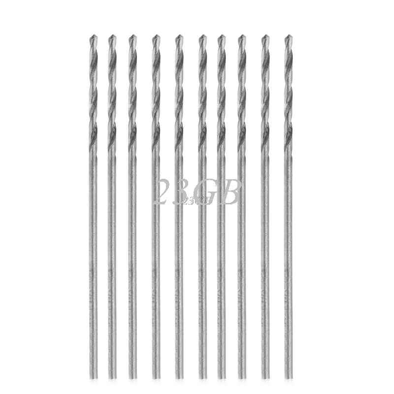 Multifunction Tiny Micro HSS 0.8mm Straight Shank Twist Drilling Bit 10PCS/SET A10_15 free shipping of 1pc hss 6542 made cnc full grinded hss taper shank twist drill bit 11 175mm for steel