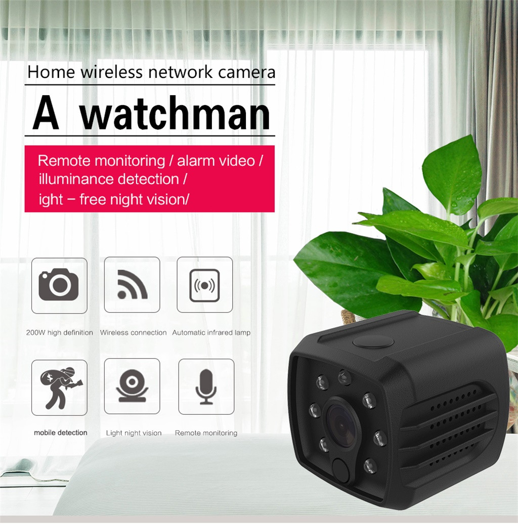 Mini Wireless WiFi Camera 1080 P HD Remote Video Small Micro Night Vision Home 140°wide angle support memory card up to 128GB