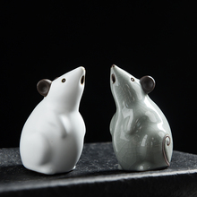 цена на Creative Mini Mouse Tea pet  Arts and Crafts Ceramic Animal mice figurines  fairy garden miniatures home decoration gifts