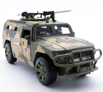 1:32 scale alloy pull back SUV model,tiger military armored vehicles,4 open doors,metal diecasts,sound light toy,Free Shipping