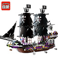 1539pcs Caribbean Pirate Enlighten Building Blocks Pirate Ship  Kids Educational Bricks Mini Compatible with Lego toys