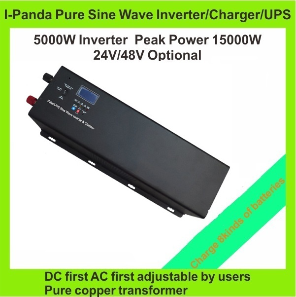 inverter 5000w invertor pure sine wave  solar inverter DC24V DC48V to AC power inverter with battery charger UPS  5000w 5000w dc 48v to ac 110v charger modified sine wave iverter ied digitai dispiay ce rohs china 5000 481g c ups