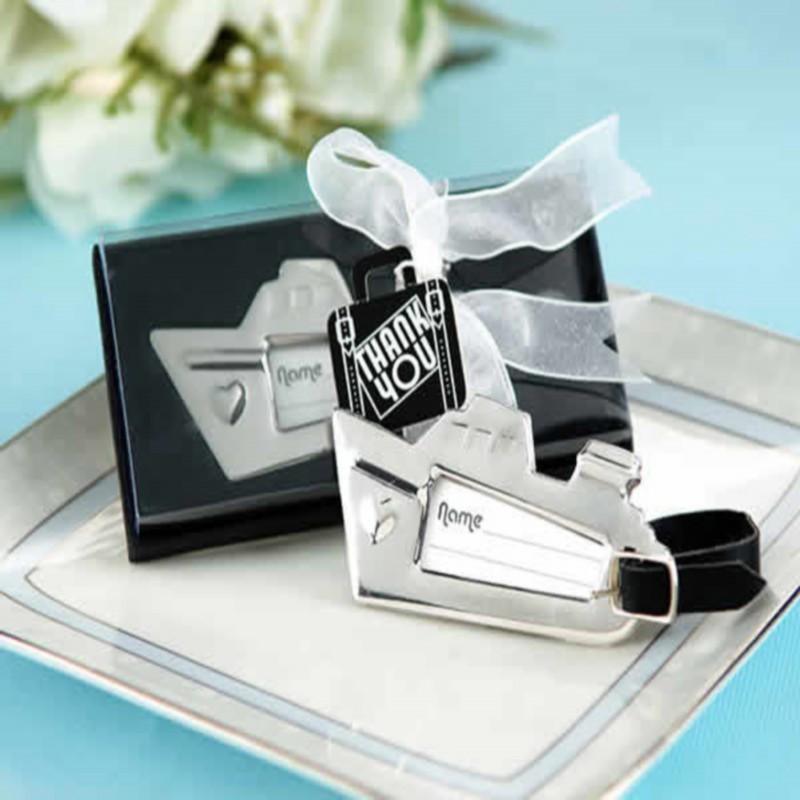(100pcs/Lot)FREE SHIPPING+Love Cruise Ship Luggage Tag Wedding Baggage Tags Bridal Shower Favors Party Giveaway For Guest