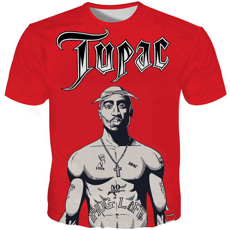 Cloudstyle 2018 Men 3D Tshirt Fitness Nude 2PAC 3D Print Summer Tops Red Tees Shirt Fashion Streetwear Harajuku Plus Size 5XL