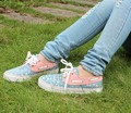Sweet small canvas shoes female low cow muscle outsole casual comfortable women flat
