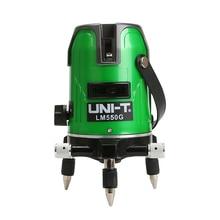 UNI-T LM520G LM530G LM550G nivel láser 2 líneas 3 líneas 5 líneas de 360 grados-nivelación Cruz nivel láser verde líneas láser nivel