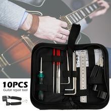 цена на 10 Pcs Instrument Maintenance Guitar Repair Tools Cleaning Tech Tool Kit for Guitar Parts Guitar Repairing Tool Kit Accessories