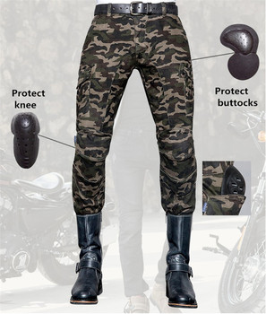 free delivery Uglybros camo UBS014  jeans motorcycle jeans men's racing pants moto pants Motorcycle protection pants