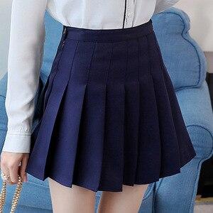 Image 3 - Kpop Ulzzang Black Pink Mini Skirt Women Summer 2019 Harajuku Kawaii Skirts Womens Korean Schoolgirl Streetwear Skirts