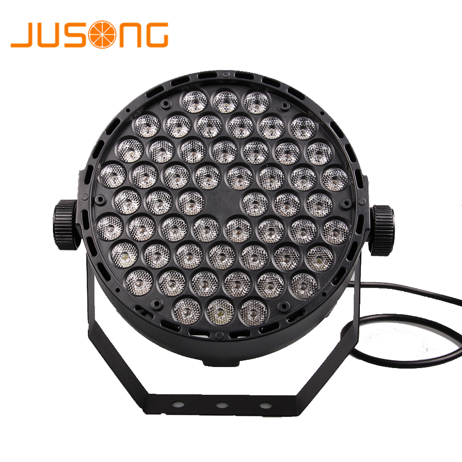 цена JUSONG Stage Led Par Light DMX 512 RGB Disco Stage Party DJ Leds Laser Spotlights Club Lamp Projector Home Party Lighting