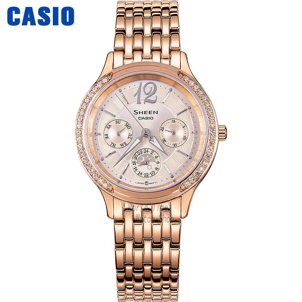 Casio Watch Business Waterproof Quartz Watch SHE-3030PG-9A SHE-3030SG-7A SHE-3030BGL-7A SHE-3030BR-5A SHE-3030L-2A casio watch fashion trend ms quartz watch she 4048pgl 6a
