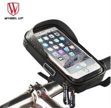цена на WHEEL UP Bike Bicycle TPU Touch Screen Phone Bag Rainproof Cell Bicycle Handlebar Bags MTB Frame Pouch Bag Phone Holder