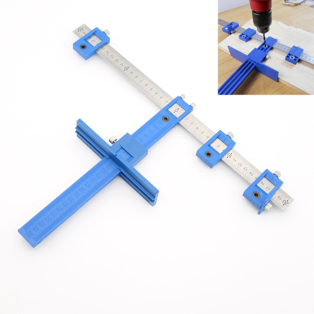 Detachable Hole Punch Jig Tool Drill Guide Sleeve Cabinet Hardware Wood Drilling Dowelling Hand Tool Sets все цены