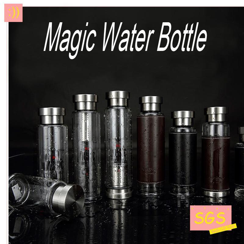 Venta caliente Magia De Vidrio Botella de Agua Del Deporte Con Bolsa de Protecci