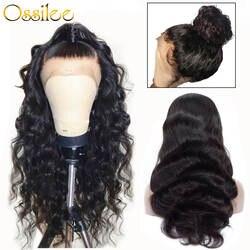 360 Синтетические волосы на кружеве al парик предварительно сорвал с ребенком волос бразильского объемная волна человеческих волос парики
