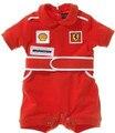 Детские комбинезоны гонки костюм красный автомобиль одежда дети новорожденный детские комбинезоны для детей мальчик одежда Roupas Bebes Mameluco Infantil