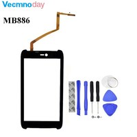 4 5 For Motorola AtRIX HD MB886 Front Outer Glass Touch Screen With Digitizer Free Shipping