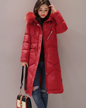 Collar Winter Jacket Thick Warm Women Long Ladies Parkas Outerwear Lady Top Coat Slim Fashion Clothing With A Hooded