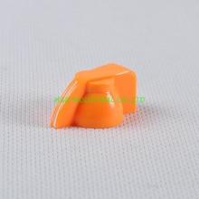 все цены на 10pcs Colorful Rotary Volume Orange Control Vintage Plastic Knob 32x14mm for 6.35mm Shaft онлайн