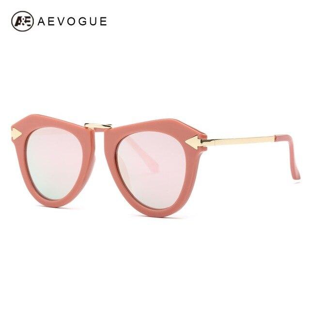 796f5203da797 AEVOGUE Óculos De Sol Olho de Gato Mulheres Revestimento Reflexivo Espelho Grife  Óculos de Sol Do