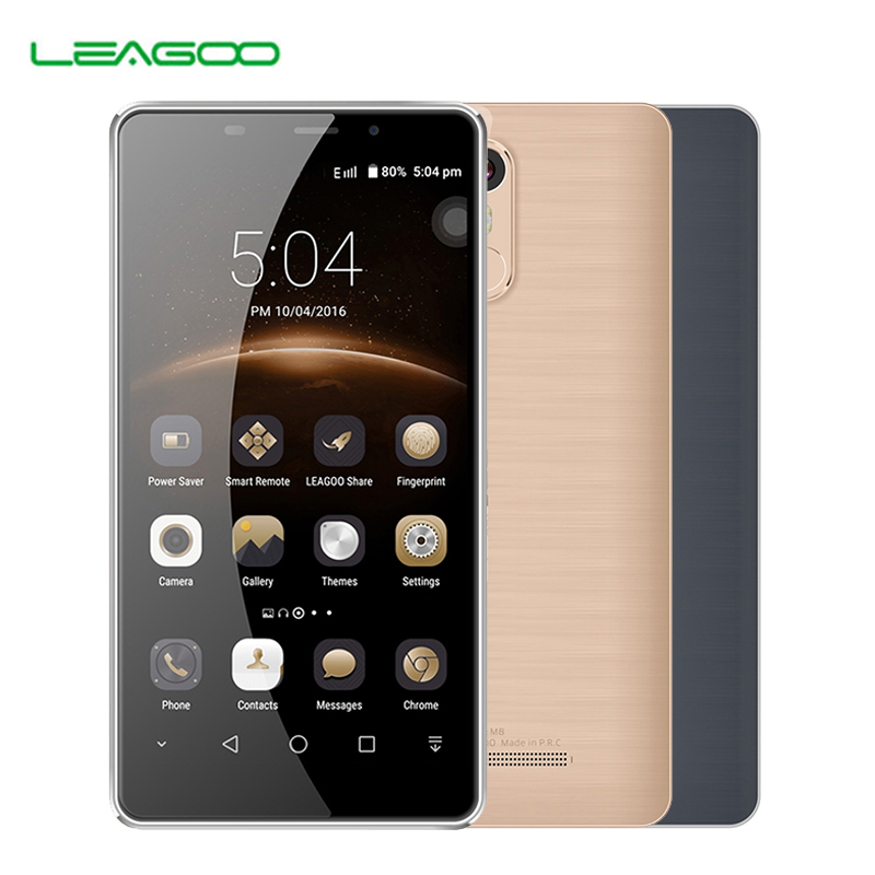 LEAGOO M8 2GB 16GB Fingerprint ID Smartphone 5 7 inch Freeme 6 0 MTK6580A Quad Core