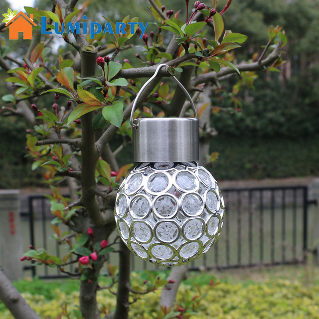 LumiParty Waterproof Solar Powerd Light Peacock Eye LED Hanging Lamp Outdoor  Garden Decor Light For Courtyard