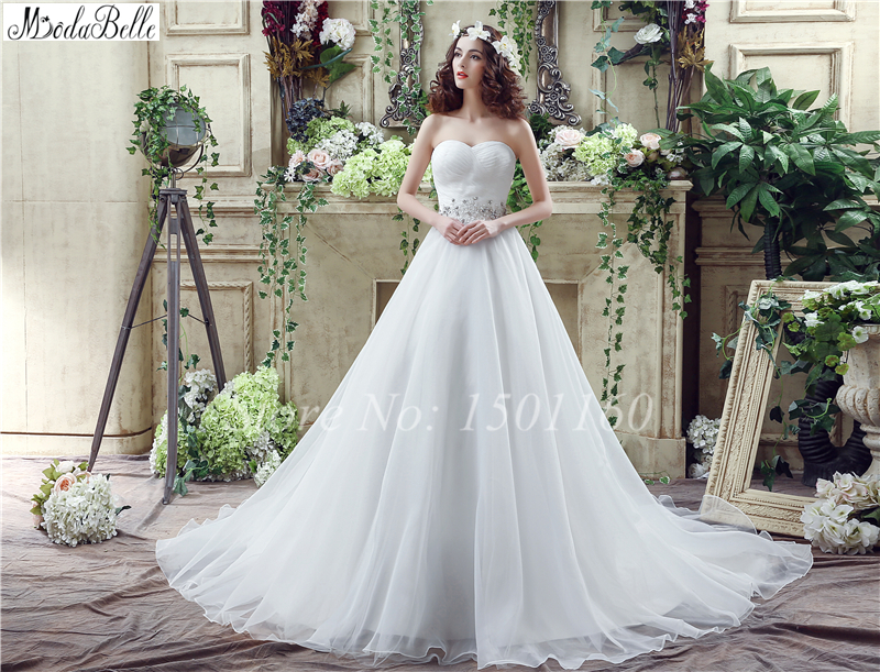 Custom Made White Long Bridal Gown Sweetheart Lace Up Back