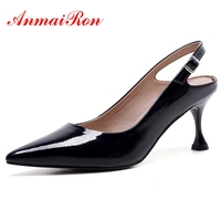 ANMAIRON Women High Heels Ladies pumps 2018 New Fashion Elegant Footwear Size 34 39 Sexy Shoes Women Thin Heel Party Shoes CR246