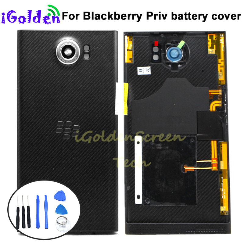 Battery Cover For Blackberry Priv Rear Housing Back Case With Side Buttons+Camera Lens Priv Replacement Part(China)