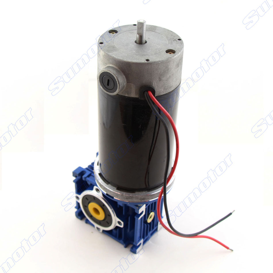 GW80170 DC 12V 24V tail shaft for encoder Worm Geared Reducer electric motor Large power Big torque Low speed Industry machinery dc 6v 24v high speed micro motor 130 type shaft diameter 2mm 2pcs