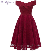 Sexy Burgundy Cocktail Dresses Lace Short Formal Party Gown Knee Length 2019 A line V Neck Sleeveless robe coctail