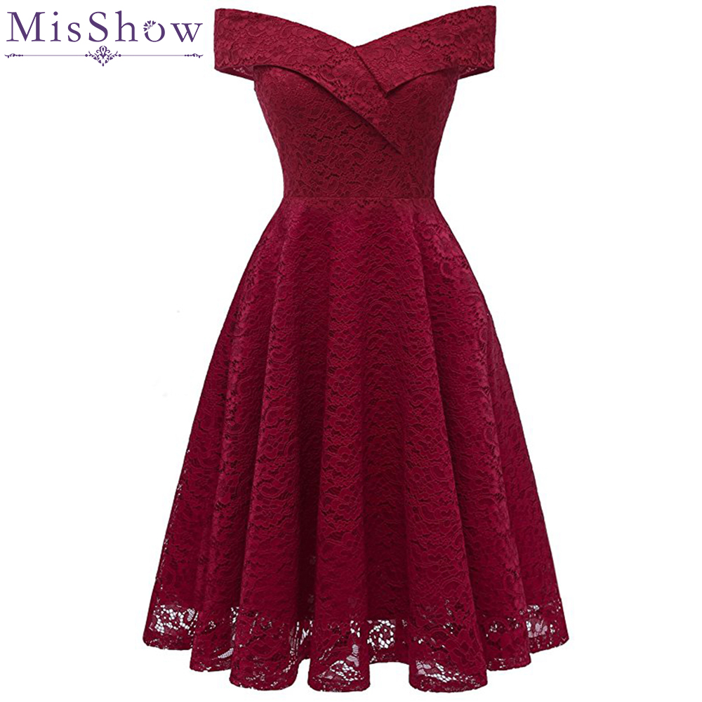 033bd330f Vestidos de Cóctel elegante formal vestido de fiesta Línea A escote en V de  encaje de mujer 2019 Vestidos cortos Sexy Mujer Vestidos de Fiesta
