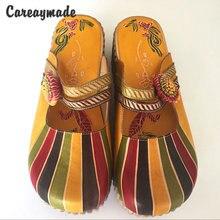 Careaymade Лидер продаж новинка хит летние туфли из натуральной