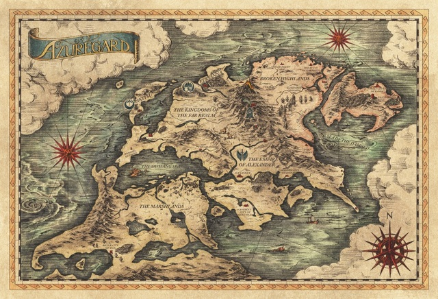 Old Map Background on