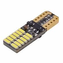 2 Pcs Par Pingo T10 24 Led Smd de Chips Samsung Terminal Cambus Los Ouro