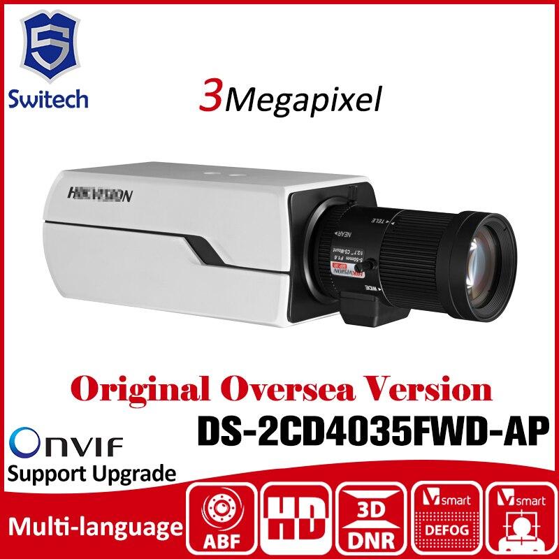 HIK  DS-2CD4035FWD-AP 3MP Smart IP Box Camera Auto Back Focus 12V PoE Security Camera CCTV Camera smart junior 2 cl cd