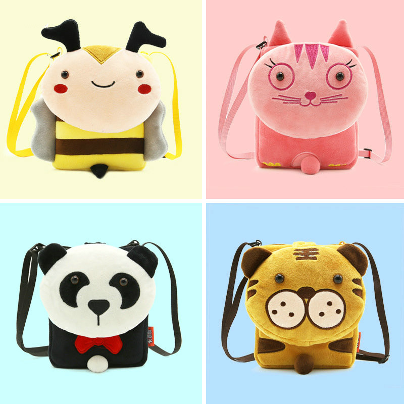 Cute Soft Plush Panda Backpack Animal Stuffed Kid School Book Bag Travel Shoulder Bag Snack Satchel Bag for Toddler Baby Little Kid Boys and Girls Children