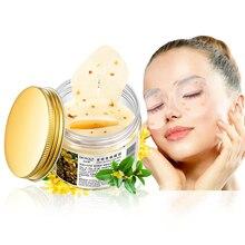 80 Pcs/ Bottle Gold Osmanthus Eye Mask Women Collagen Gel Whey Protein Face