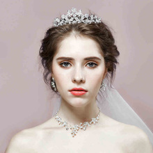 European style Headband for women Flower Crown Wedding Garland Hair Accessories fashion Girls Hairband Bridal Headdress